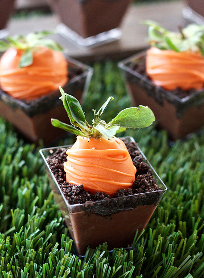 These carrot patch pudding cups make great Easter desserts for adults and kids!