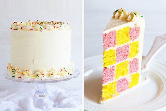 Checkerboard Easter Cake