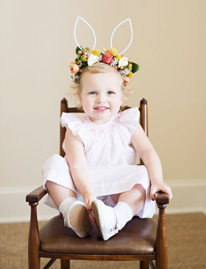 DIY floral bunny ears for Easter parade