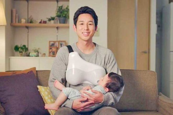 Device helping dads breastfeed