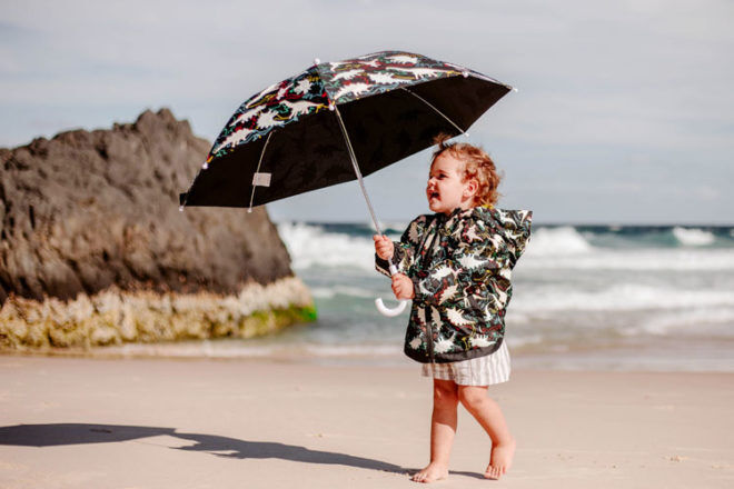 Holly & Beau colour changing umbrellas and raincoats