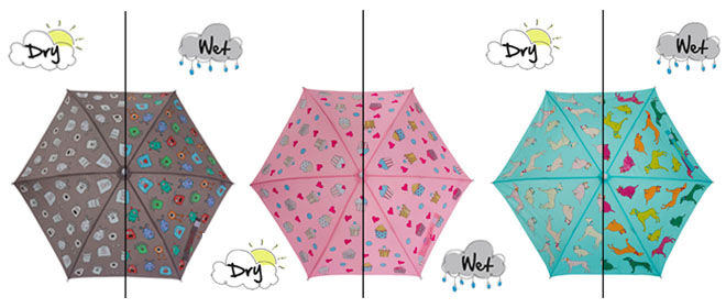Holly & Beau colour changing umbrellas