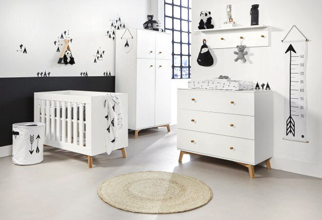 Love N Care Fjord white Cot