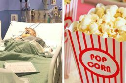 Child choking on popcorn warning