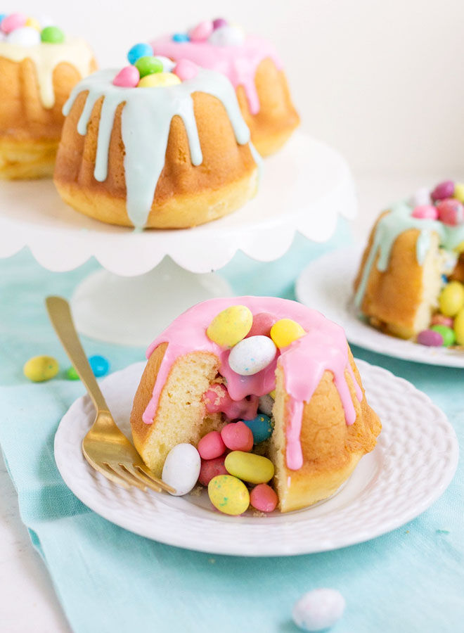 Surprise Easter Bundt Cakes