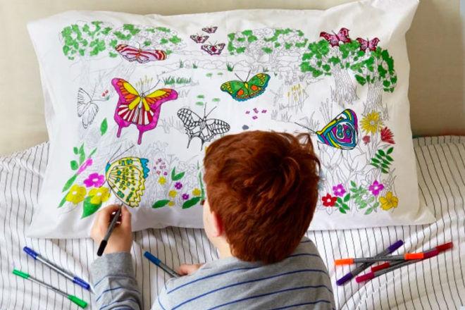 fun colour-in pillowcases by eatsleepdoodle