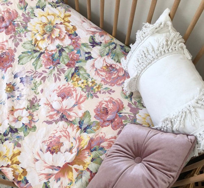 luxe and luna linen cot sheet