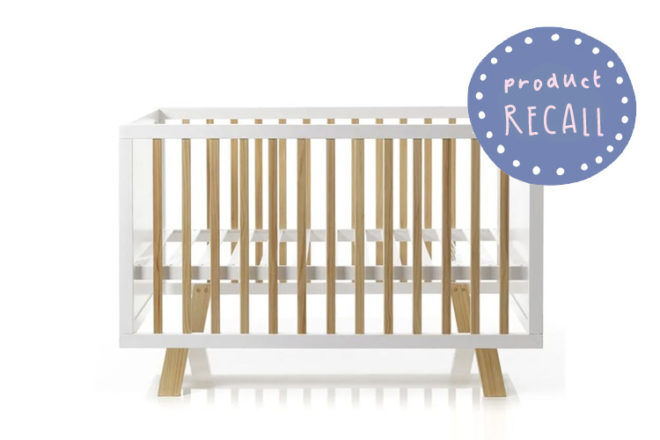 Adairs Cot Recalled