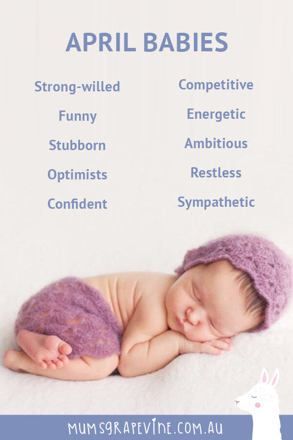 Traits of babies born in April