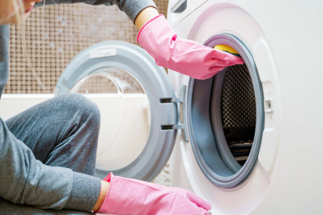 Use the nesting period to clean household appliances before the baby is born
