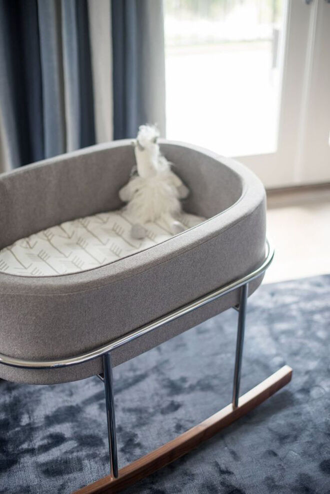 Cradle and kids Monte Grey Rockwell Bassinet