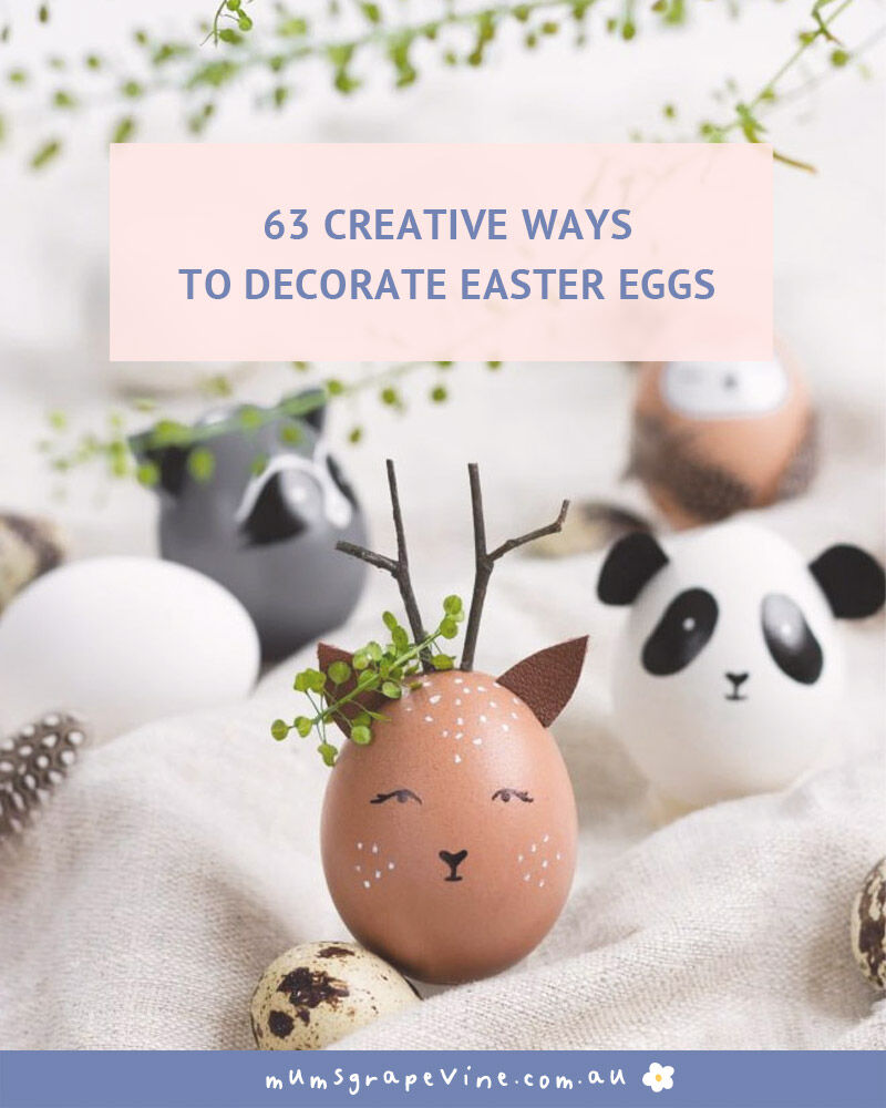 19 ways to decorate easter eggs