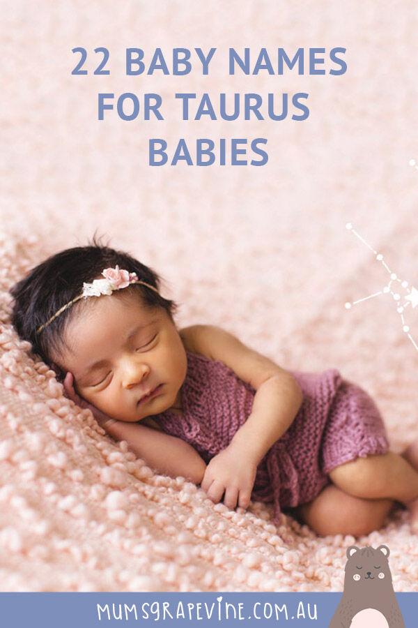 22 Baby Names for Taurus Babies | Mum's Grapevine