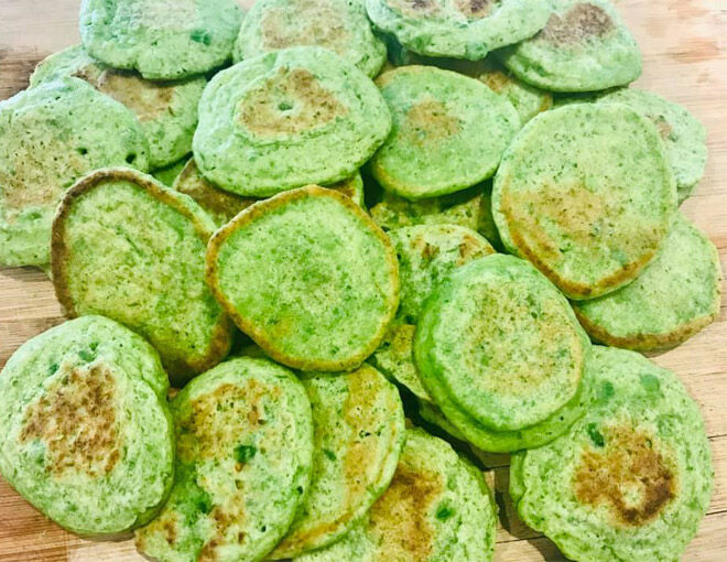 First finger food health pea pikelets