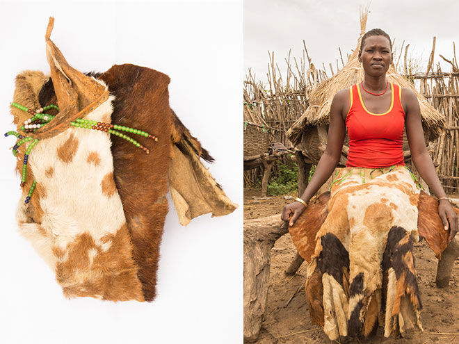 Goat skin used for periods in Uganda