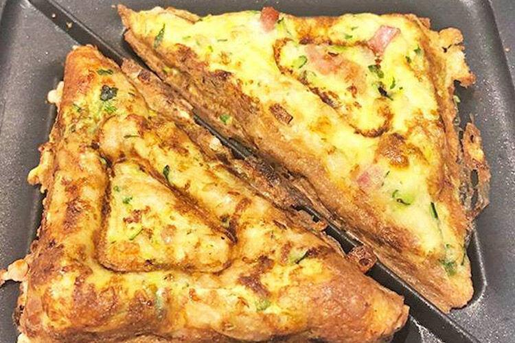 Jaffle maker zucchini slice