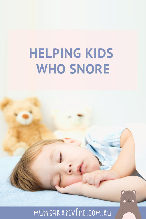 Helping kids who snore