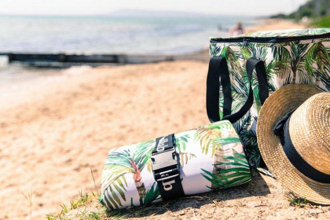 Green Palm picnic mat by Kollab