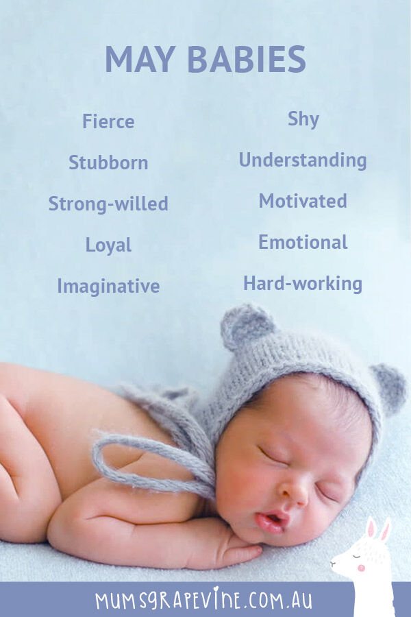 Traits of babies born in May