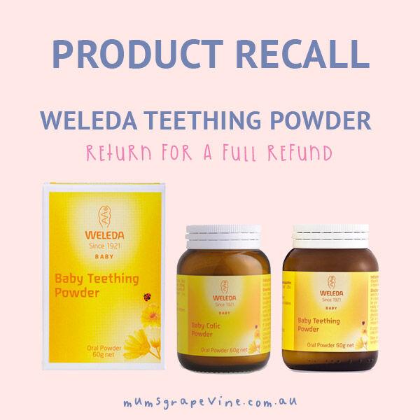 Weleda teething and colic powder recall