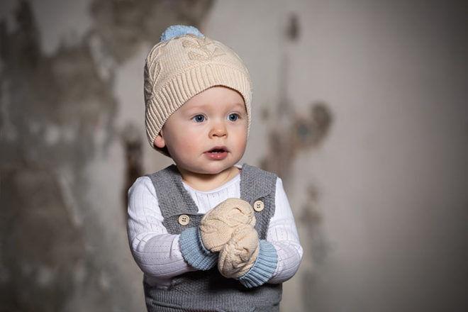 Acorn Kids beanie and mittens