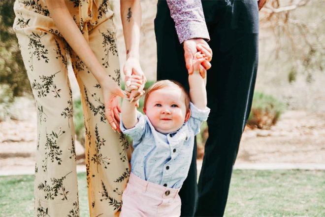 Baby walks at six months