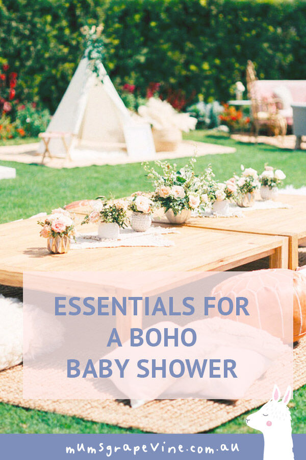 Essentials for a boho baby shower | Mum's Grapevine