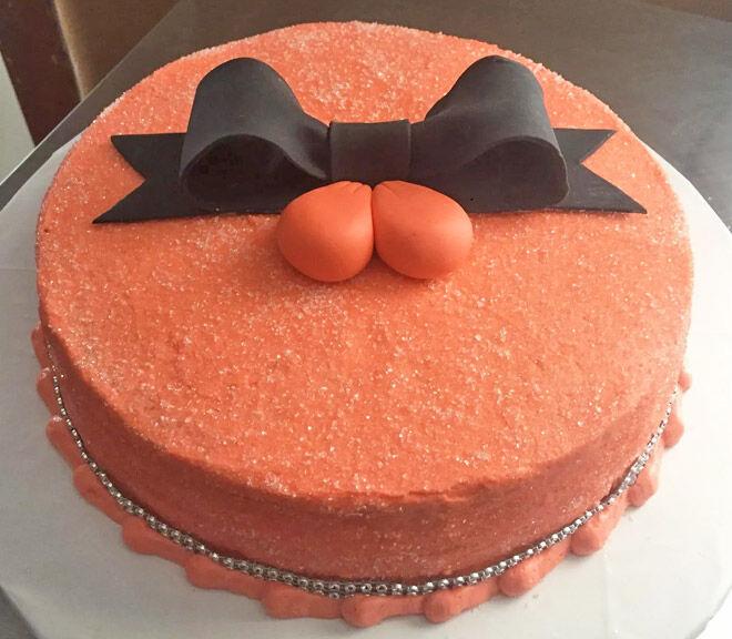 Classy vasectomy cake