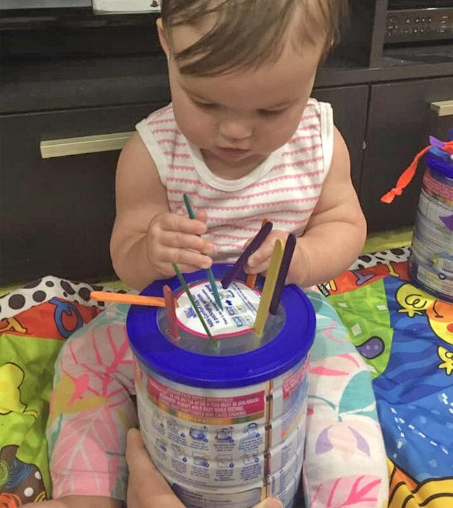 Formula tin baby activity