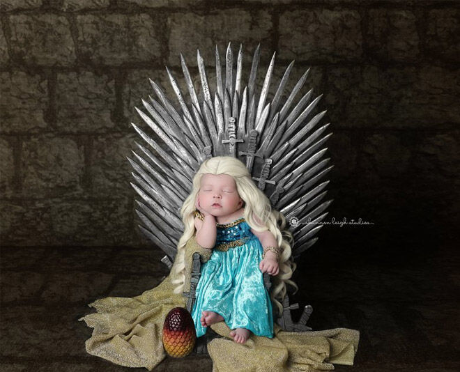 Game of Throne newborn baby shoot
