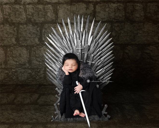 Iron Throne baby photos