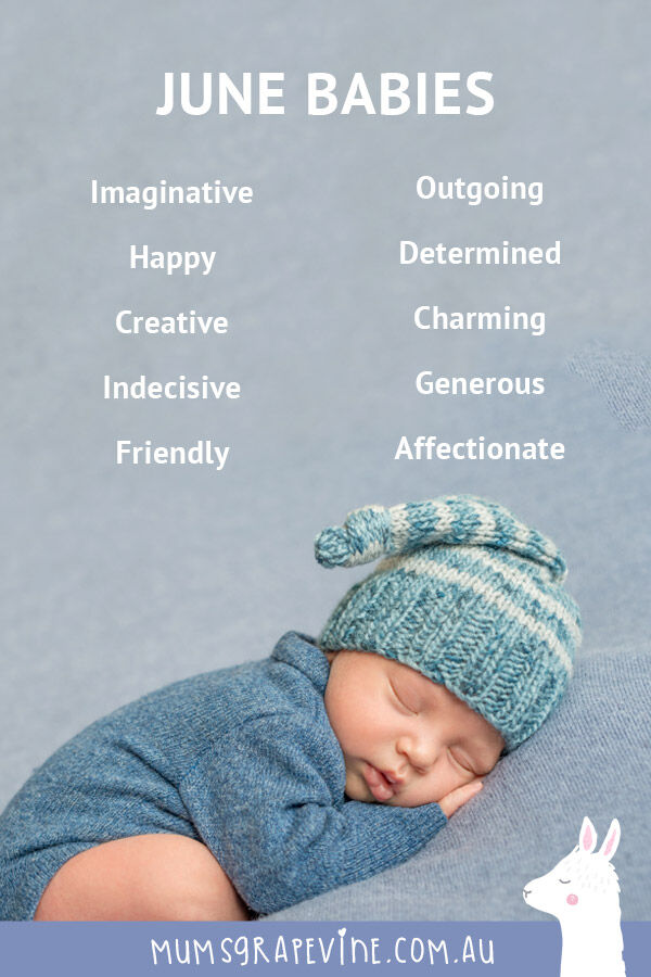 Traits of babies born in June