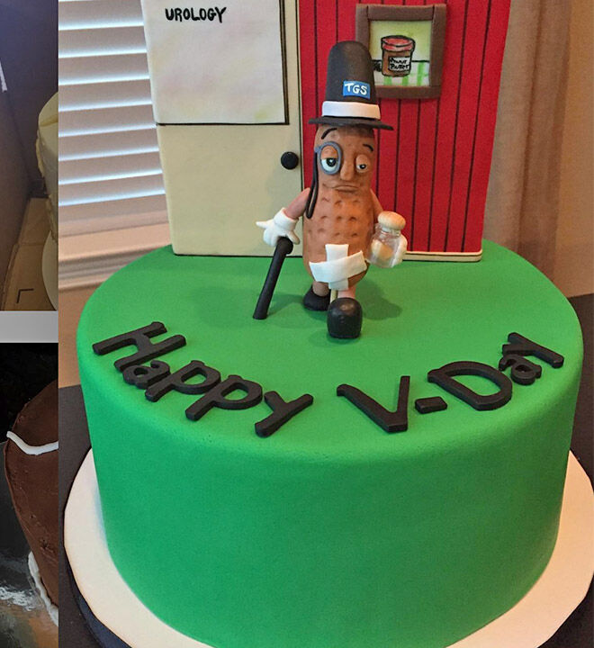 Peanuts vasectomy cake