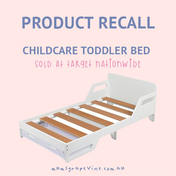 Product recall Toddler bed sold at Target