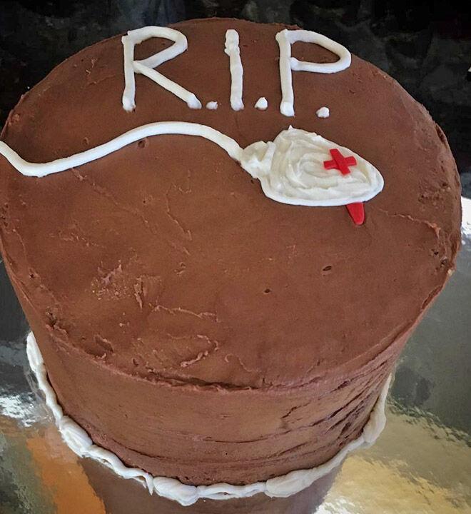 RIP vasectomy cake
