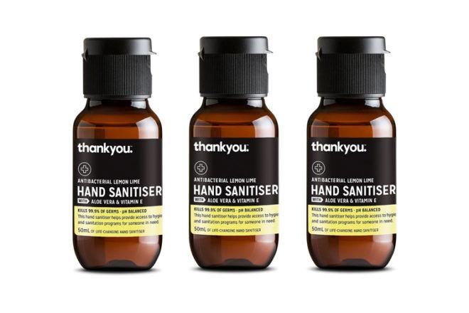 THANKYOU antibacterial lemon and lime hand sanitiser