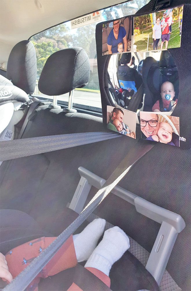 Tip to stop baby crying during car trips