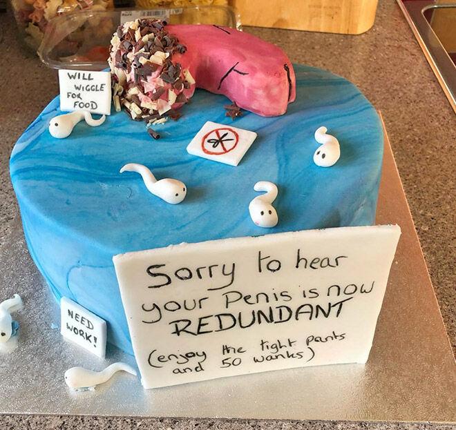 Vasectomy celebration cake
