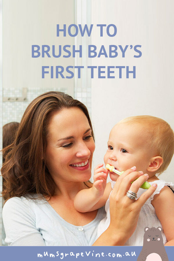 How to brush Baby's first teeth | Mum's Grapevine