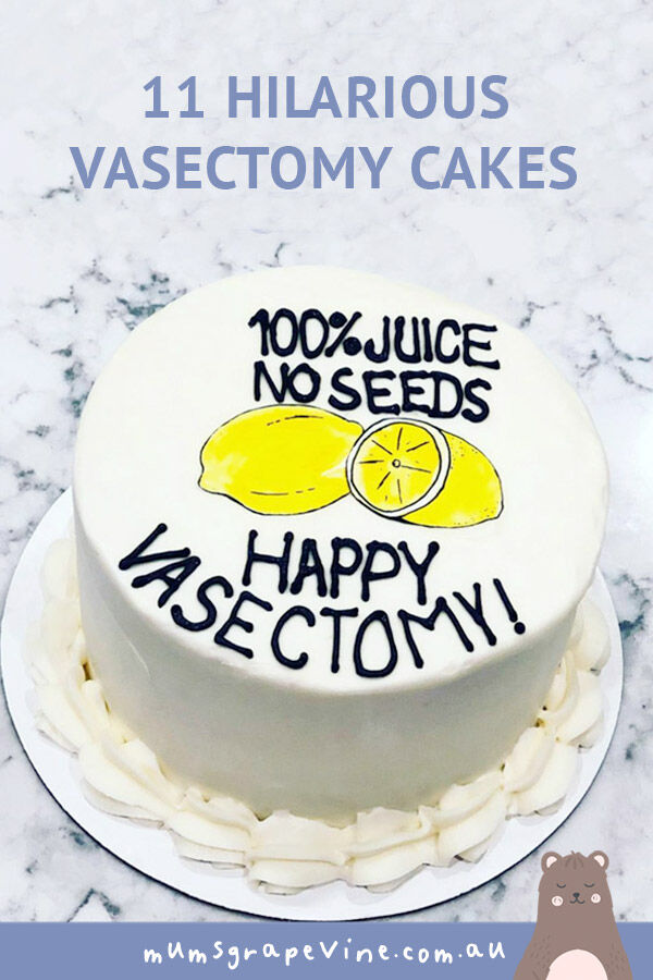 11 vasectomy cakes to celebrate the snip