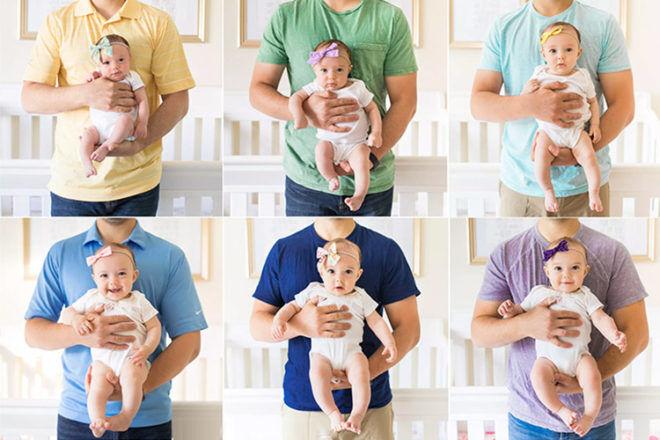 Baby milestone images
