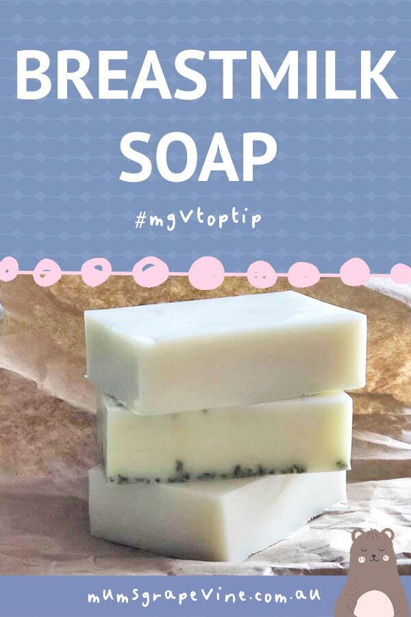 Breastmilk soap for baby
