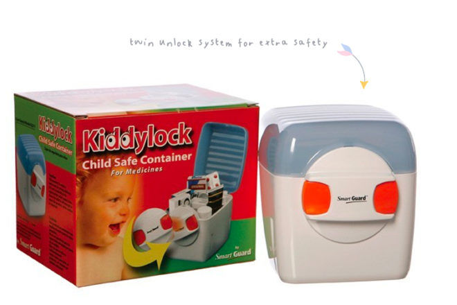 Kiddy Lock child safe container