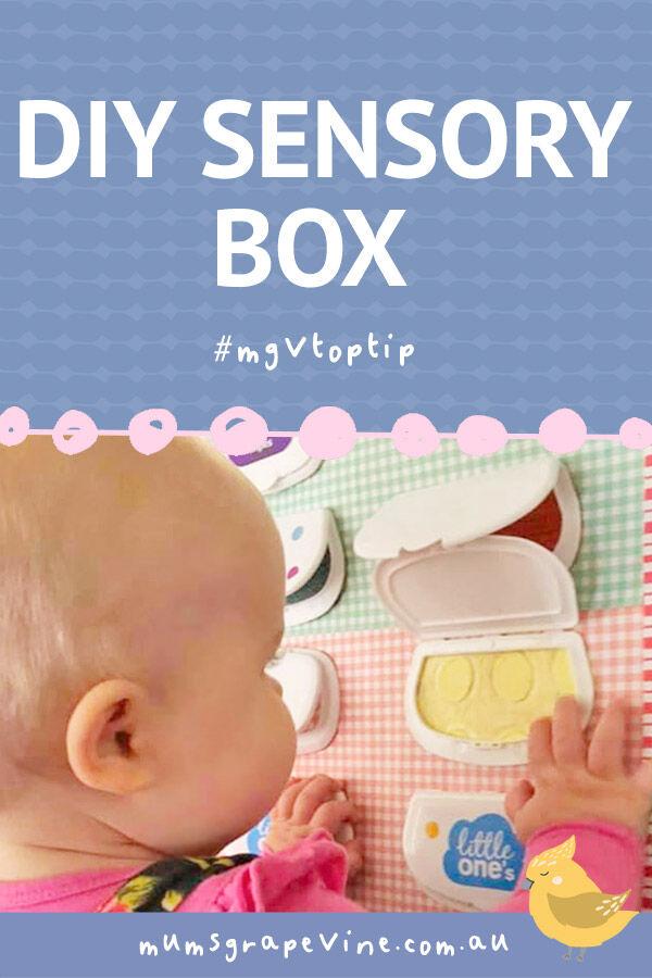 DIY sensory box for baby