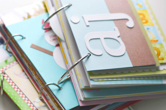 greeting card book - a great way to keep baby cards