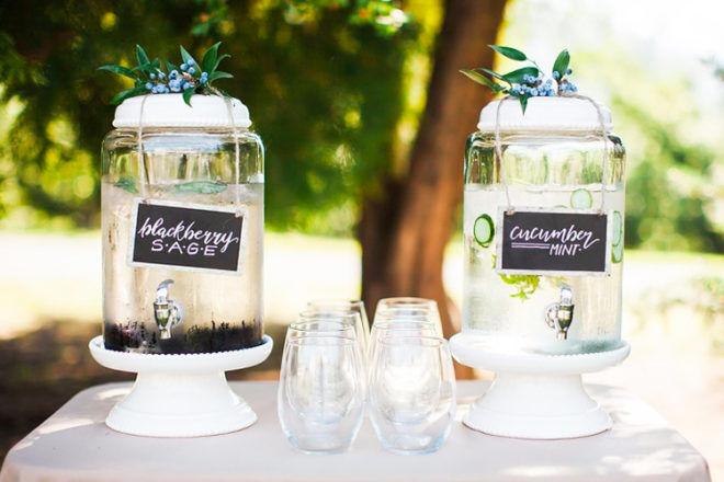 Woodland baby shower drink ideas