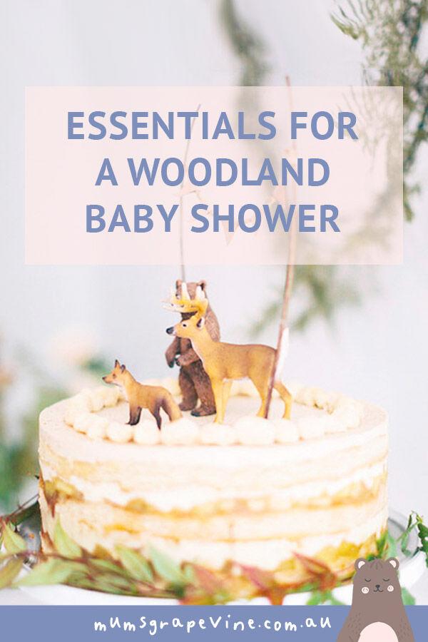 essentials for a woodland baby shower   Mum's Grapevine