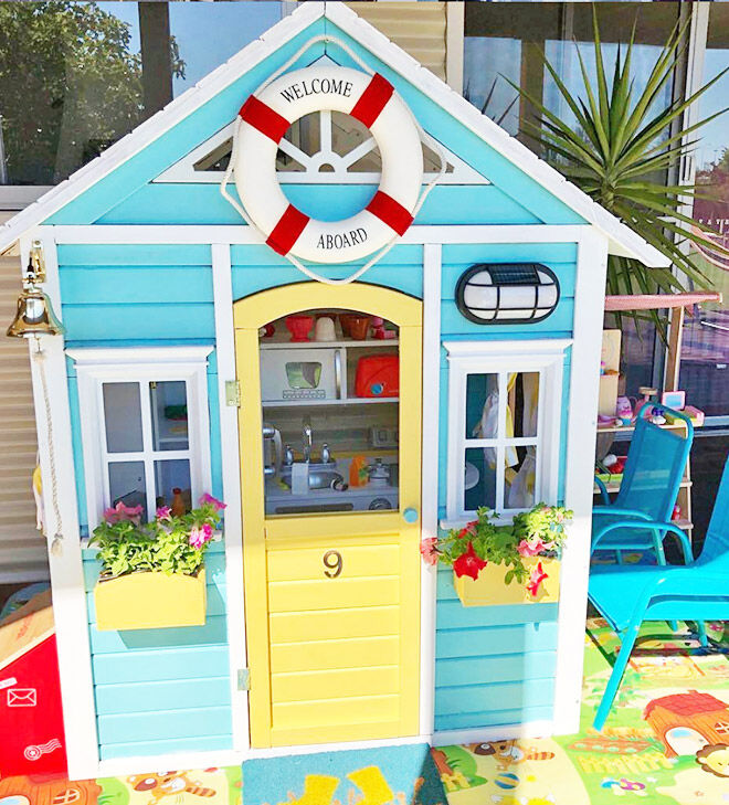 Beach house Kmart cubby hack
