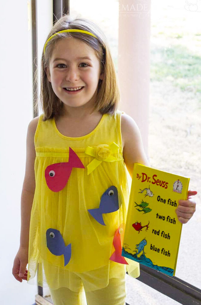 DIY Dr Seuss costume, One Fish Two Fish