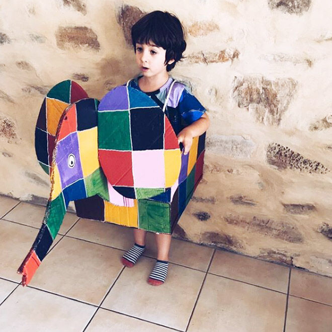 DIY Elmer the Elephant Book Week costume